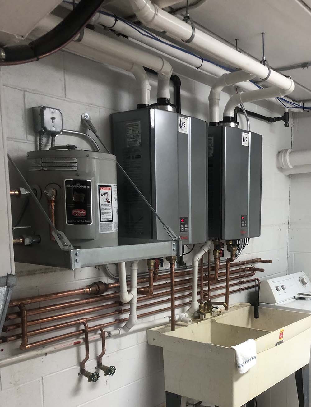 Dual Tankless Copper Piping
