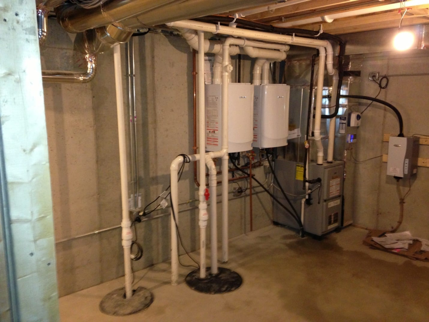 Dual Tankless Water Heaters