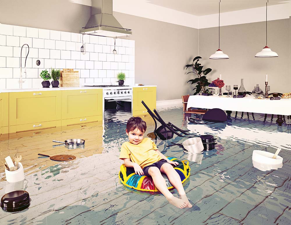 Boy In The Flooded Room