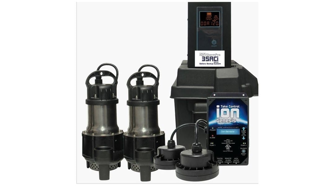 Ion Technologies 35aci Deluxe Battery Backup Sump Pump System