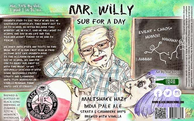 Mr Willy Sub For A Day Maltshake Hazy Ipa
