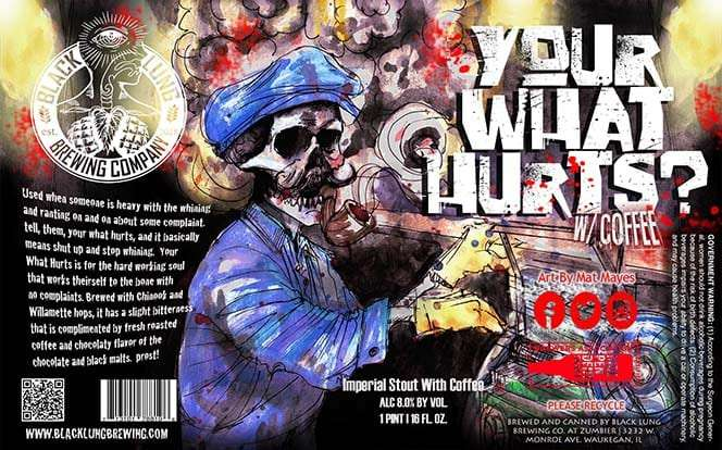 Your What Hurts Imperial Coffee Stout