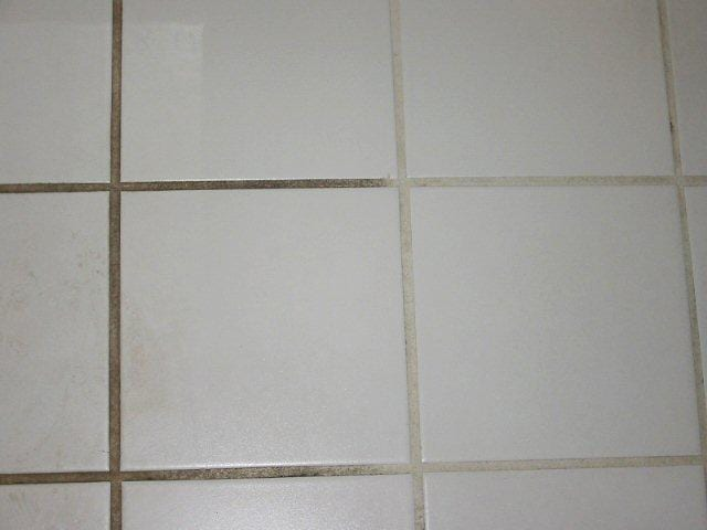 Grout clean and stain before